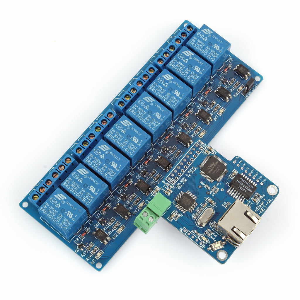 iMatic RJ45 TCP/IP Remote Control Board with 8-Ch Relay