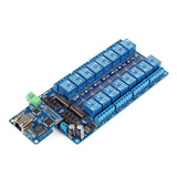 iMatic RJ45 Ethernet/Wi-Fi Control Board with integrated 16-Ch DC 12V Relay