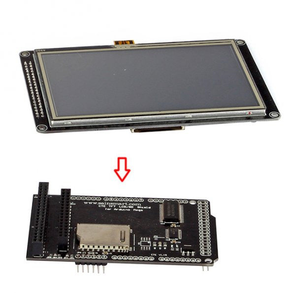 """Serial SPI 5/"""" inch 480x272 TFT LCD Touch Shield for Arduino Due,MEGA 2560,Uno"""