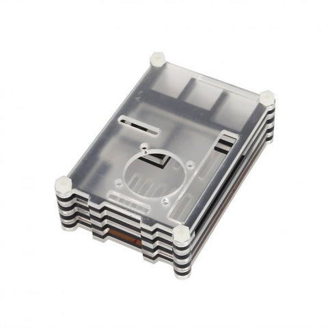 Transparent Sliced Acrylic Case Shell Enclosure Box for Raspberry Pi 3 Model B & RPI B+