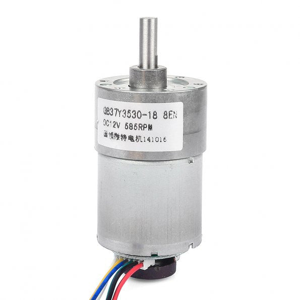 19:1 Metal Gearmotor 365rpm 37Dx52L mm with 64 CPR Encoder 12V