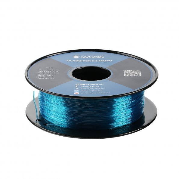 Teal, Flexible TPU Filament 1.75mm 0.8kg/1.76lb