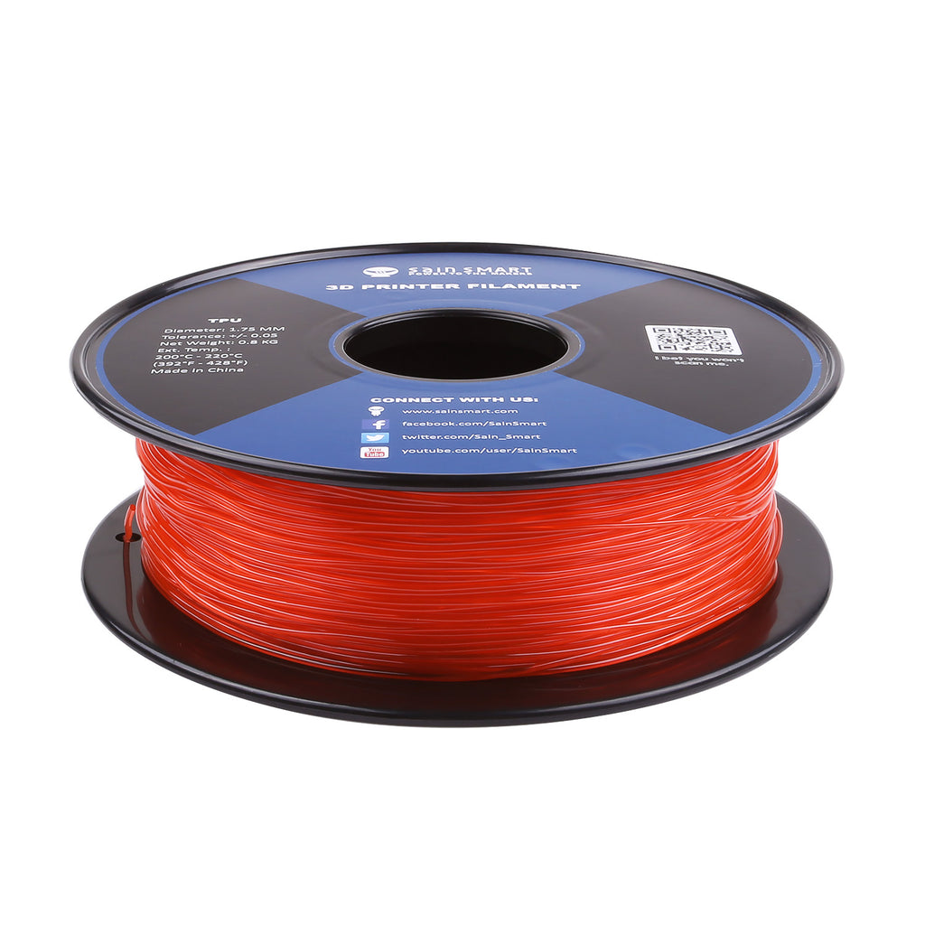 Living Coral, Flexible TPU Filament 1.75mm 0.8kg/1.76lb