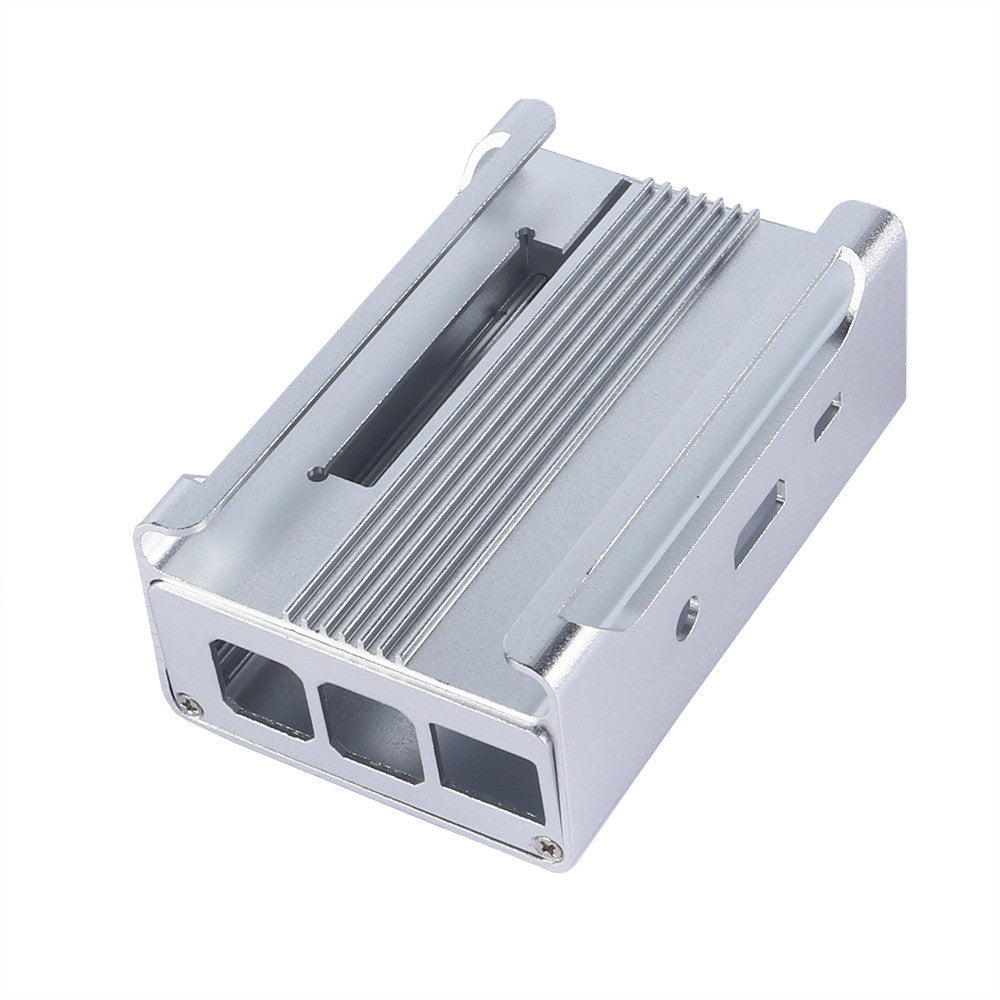 Pi2/Pi3 Aluminum Alloy Case with Cooling Fan - White