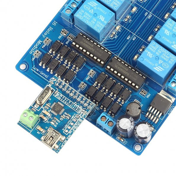 16-Channel USB HID Programmable Control Relay Module[US ONLY