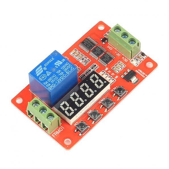 SainSmart Relay Cycle Timer Module - Programmable with Customized Settings (12V)