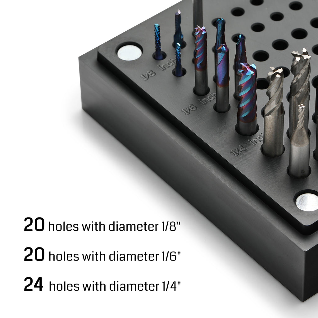 Genmitsu CNC Router Bits Holder Storage Case with 64 Holes