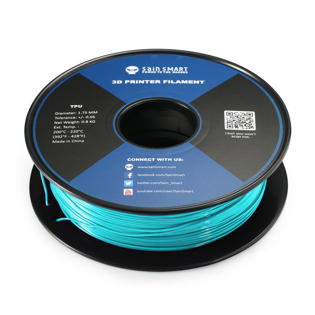 Neon Cyan, Cyberpunk Color TPU Filament 1.75mm 0.8kg/1.76lb