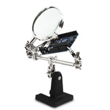 SainSmart Handstool 4x Magnifying Glass Alligator clips on 4-way Swivels