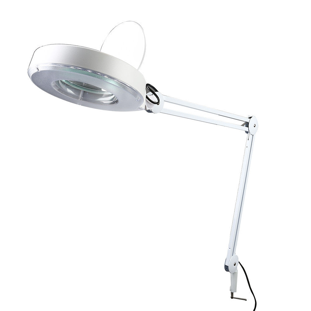 ... Premium 5x Desk Table Clamp Magnifier Lamp Light Magnifying Glass Lens  Diopter ...