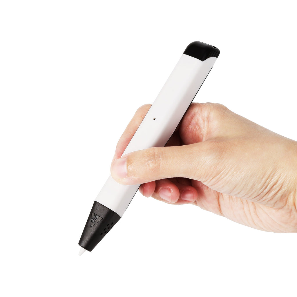 Mini 3D Printing Pen for Low Temperature Filament, 5V 2A USB Power, White