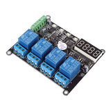 SainSmart 4 Channel RS485 DC 12V Delay Timer Switch Adjustable Module Clock Time for Arduino