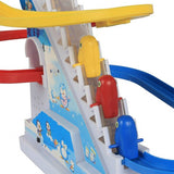 SainSmart Jr. Electric Small Dolphins Music Track Penguins Stair Climbing Toy