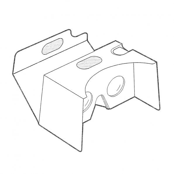 SainSmart DIY Virtual Reality 3D Google Glasses Cardboard