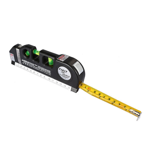 Multipurpose Laser Level laser measure Line 8ft+ Measure Tape Ruler Adjusted Standard and Metric Rulers