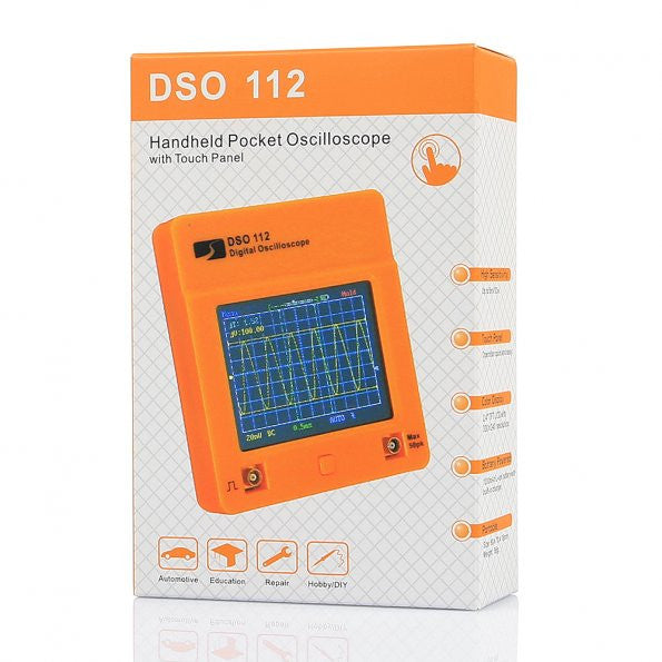 DSO112 Mini Digital Touch Screen Handheld Pocket Digital Oscilloscope + Probe