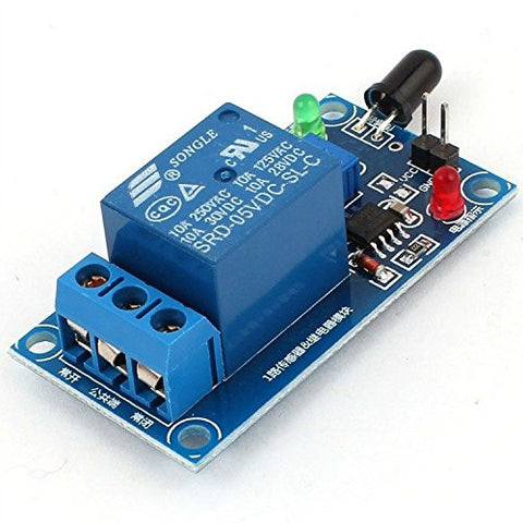 Flame Sensor with Relay Combo Module Fire Detection Alarm