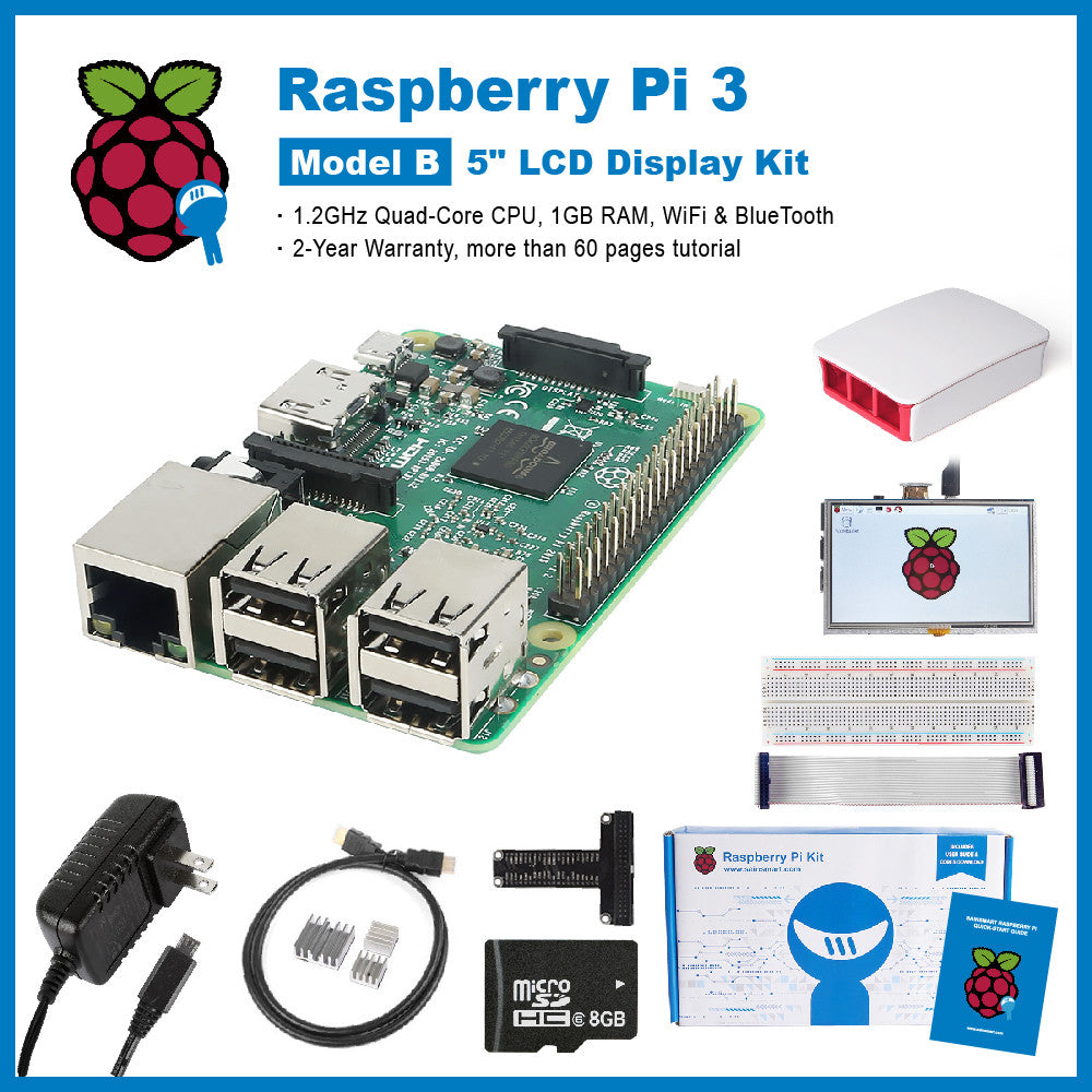 SainSmart Raspberry Pi 3 Ultimate LCD Kit : 5