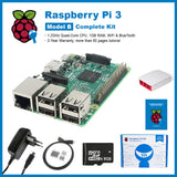 SainSmart Raspberry Pi 3 Complete Kit : Red&White Case + SD Card + HDMI + HeatSinks + USB Power Supply EU