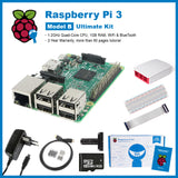 SainSmart Raspberry Pi 3 Ultimate Kit : Red&White Case + SD + Breadboard + HDMI + 40 Pins GPIO + Aluminium Heatsink EU