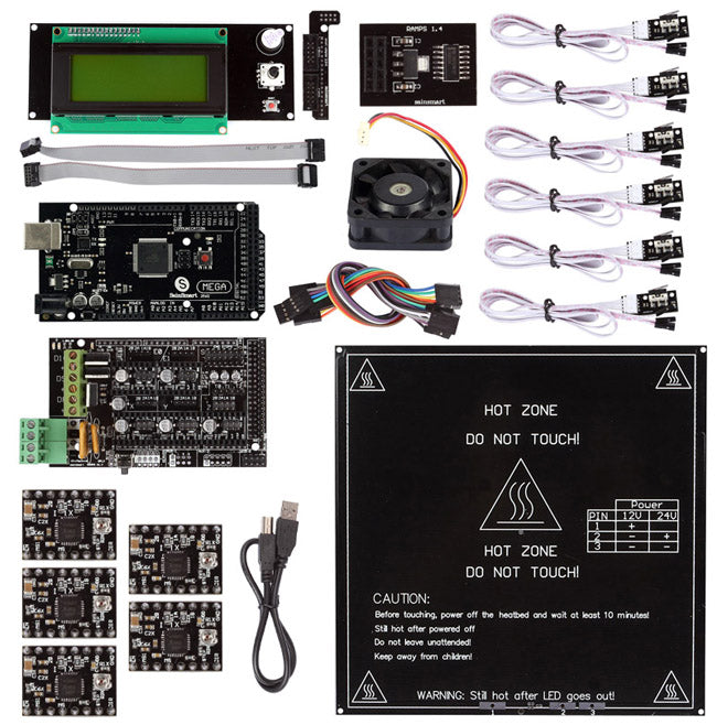 SainSmart 3D Printer controller 3D Printer Control Board Ramps 1.4 for Reprap Mendel Prusa Arduino Mega2560 Mega1280 SainStore Inc 101-91-100