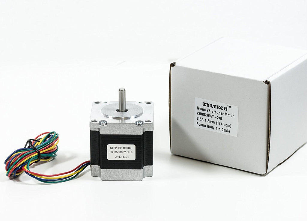 NEMA-23 2-Phase 4-Wire 1.2A 56mm 1.8° Stepper Motor for 3D Printing & CNC