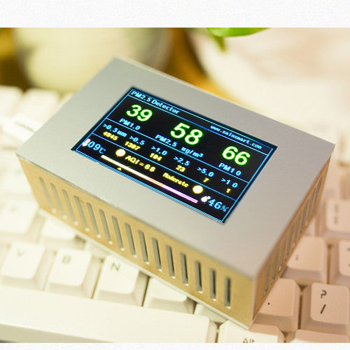 Pure Morning Air Quality Monitor, Temp Humidity Formaldehyde CO2