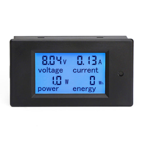 DC 6.5-100V Voltage Amperage Power Energy Meter DC Volt Amp Tester Gauge Monitor LCD Digital Display