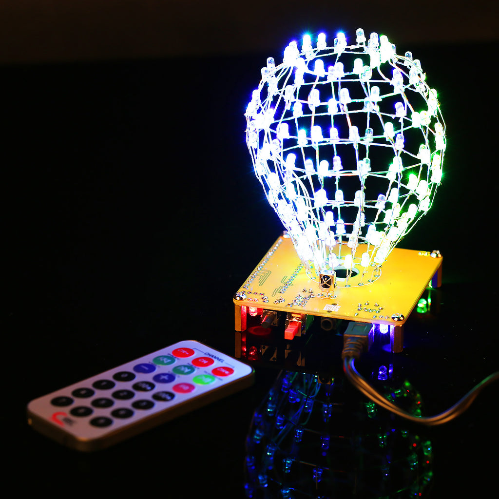 DIY Spherical LED Light Lamp with Infrared Remote Controller