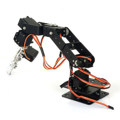 pzsmocn Metal Robot Arm,Entry-Level Robot Arm,Artificial Intelligence Kit Designed for Micro:bit,The Robot Arm,Can Be Controlled by Bluetooth or WiFi.Flexible Operation.