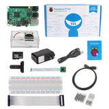 Raspberry Pi 3 Camera Kit - Clear Case Cooling Fan SD Card Breadboard HDMI GPIO