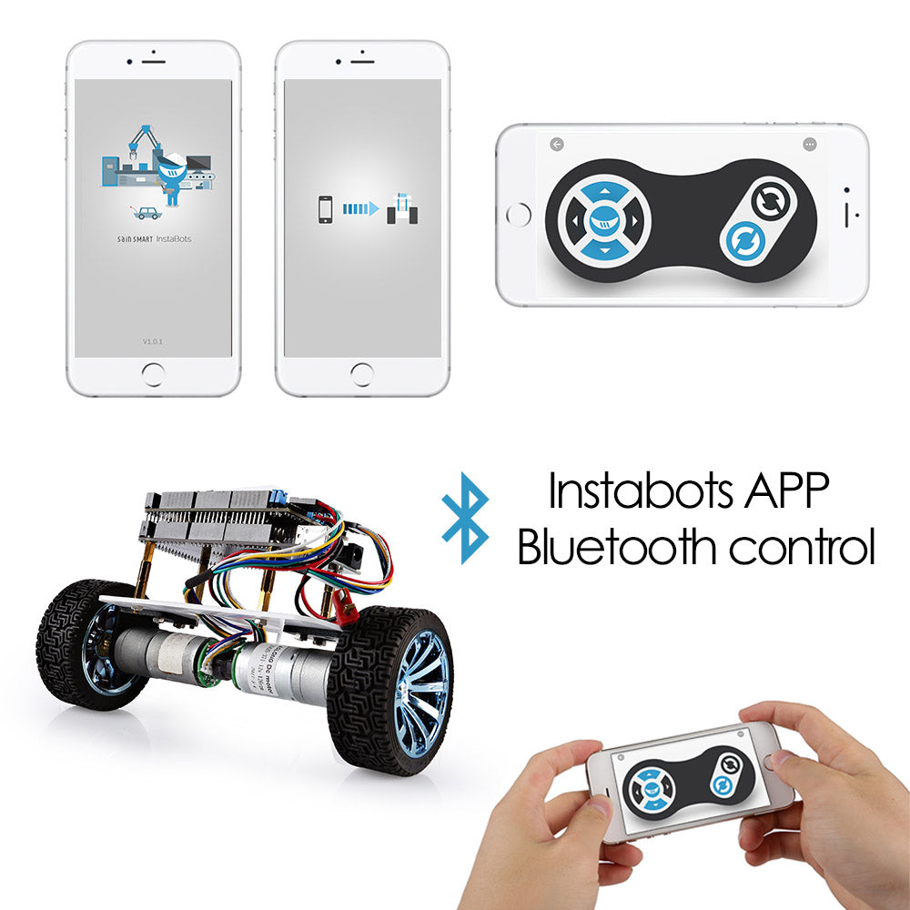 [Discontinued] InstaBots Bluetooth Control Self-Balancing Robot
