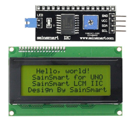 [Discontinued] 20x4 IIC/I2C/TWI Serial LCD Display for Arduino, Yellow