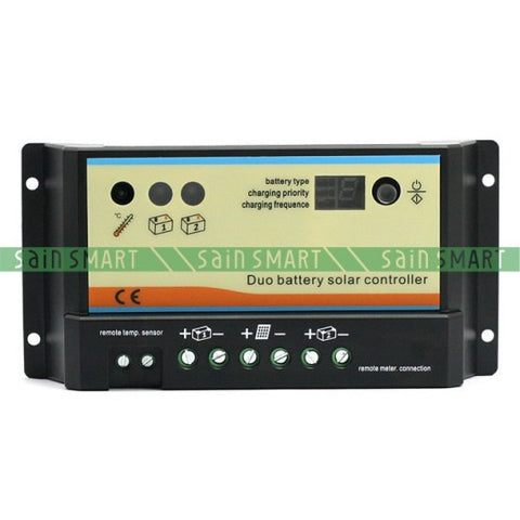 20A 12V/24V Dual battery Solar Panel Charge Controller Regulator