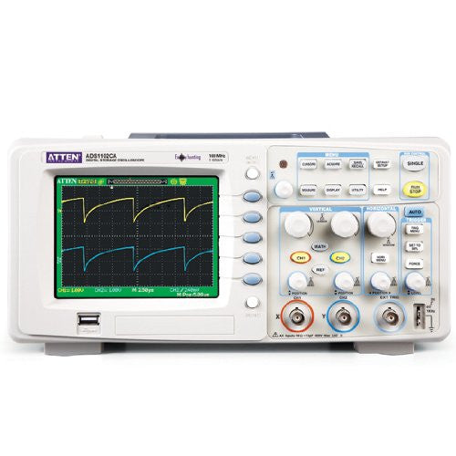 ATTEN ADS1102CA 100MHz  1GSa/s Dual-Channel 5.7'' LCD 40Kpts Digital Oscilloscope
