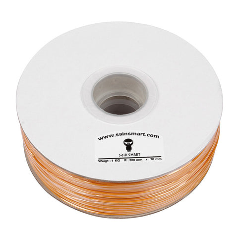 PLA 3D Printing Filament, 1.75mm 1kg / 2.2lb for 3D Printers RepRap Prusa (Orange)