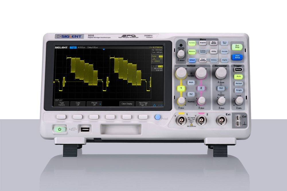 Siglent SDS1202X-S Super Phosphor Oscilloscope Bandwidth 200MHz 8 inch TFT LCD+AW