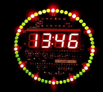 Diy Ds1302 Rotating Led Electronic Digital Clock Kit