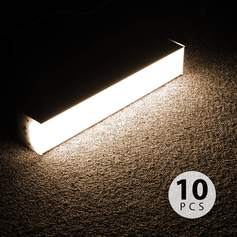 Linkable LED Light System 10 Pack Set, 1Ft 100W, 3500K Warm White