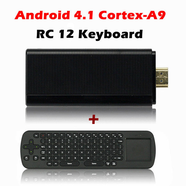 Rikomagic MK802 III Dual Core Android 4.1 Jelly Bean Mini PC + RC12 Wireless Mini 2.4GHz Air Mouse Keyboard With Touch Pad