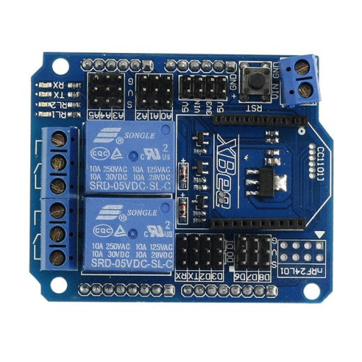 2-Ch Relay XBee BTBee Shield For Arduino UNO MEGA R3 Mega 2560 Due