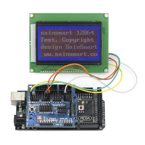 SainSmart Mega2560 R3+12864 LCD+Sensor Shield V5 Kit For Arduino AVR ATmega8U2