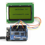 SainSmart Leonardo R3+12864 LCD Yellow+Sensor Shield V5 Kit For Arduino AVR ATmega8U2