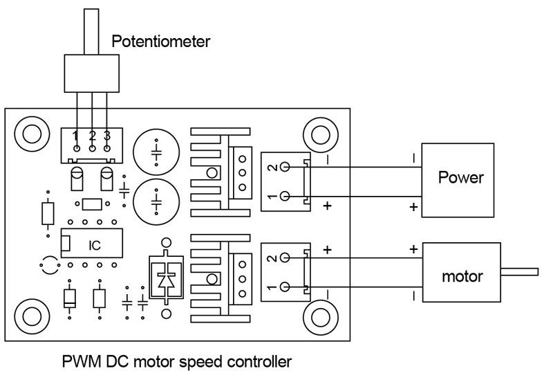 12v 5a dc motor speed control circuit diagram