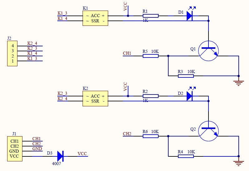 2-Channel 3V-32V Solid State Relay