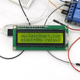 SainSmart UNO + 2-Channel Relay Module + IIC 1602 LCD Y + Prototype Shield For UNO Mega2560 1280 Duemilanove R3 AVR ATMEL Robot