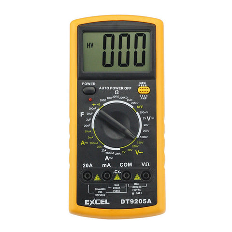 Digital Multimeter DT9205A Voltmeter Ammeter Ohmmeter Tester Measurer