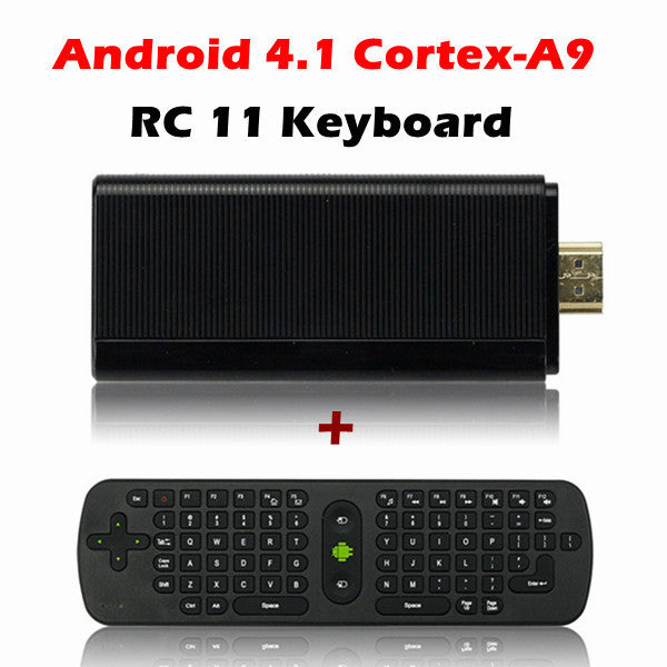 Rikomagic MK802 III Dual Core Android 4.1 Jelly Bean Mini PC + RC11 Wireless Mini 2.4GHz Air Mouse Keyboard