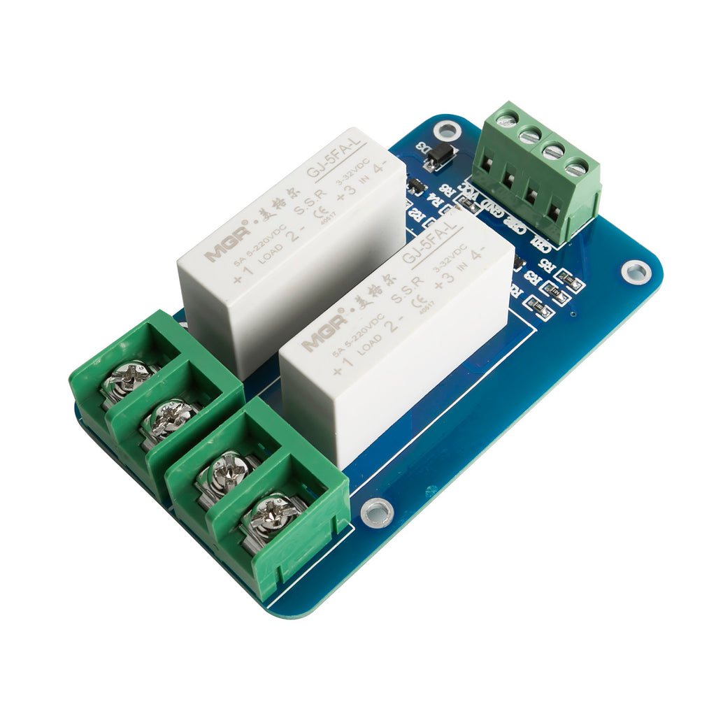 SainSmart 2 Channel SSR 5A DCDC 5V220V Solid State Relay For - Solid State Relay Dc Arduino