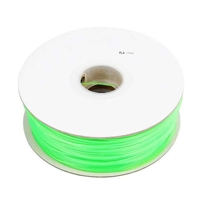 Green, Fluorescein PLA Filament 1.75mm 1kg/2.2lb